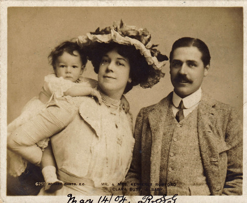 Clara Butt and family (with a coded love message on the reverse). 14th May 1904.