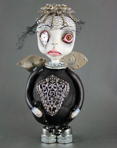 Angelina Steampunk Souls Mixed Media Art Doll