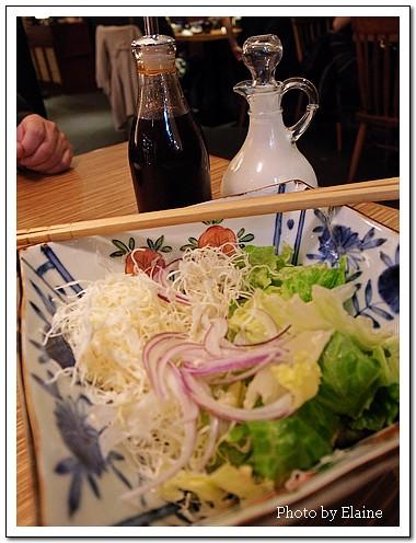 生菜搭配柚子醬和青紫蘇醬