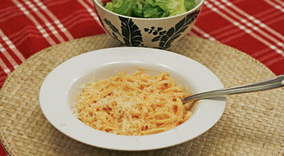 Healthy and Delicious: Red Pepper Alfredo