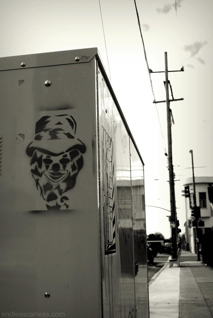 Clown Stencil.