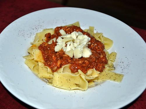 Papparalle with Sugo di carne alla Toscana