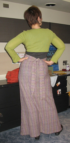 Skirt back.