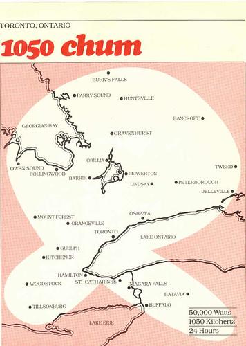 104 5 Chum Fm. 1050 CHUM broadcast coverage map. 104.5 CHUM-FM