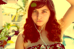 lovelovelove (shuweet.) Tags: sun selfportrait me girl face yellow hair outside eyes backyard focus bokeh selfie
