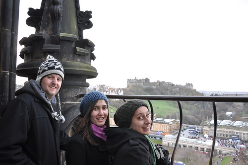 Edinburgh Castle is in view