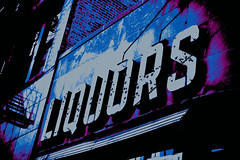 Liquors (~JaNeLLe~) Tags: building signage liquors oldsign