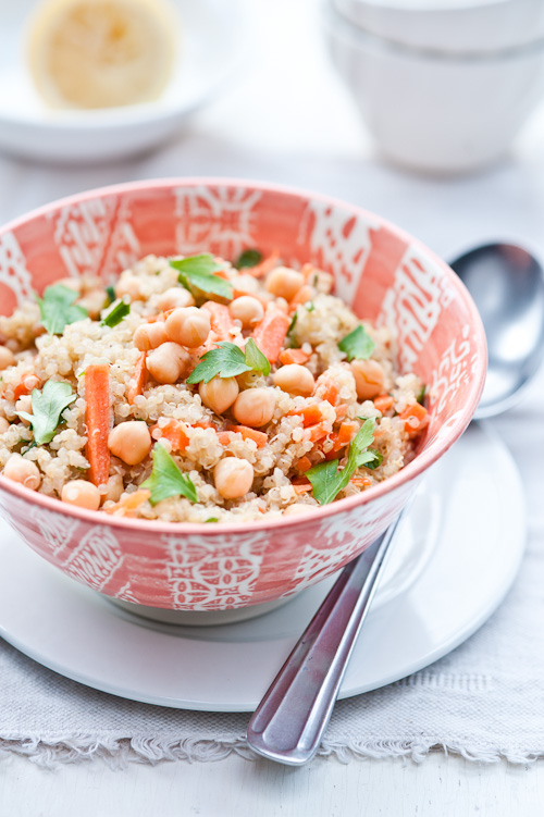 Chickpea and quinoa salad