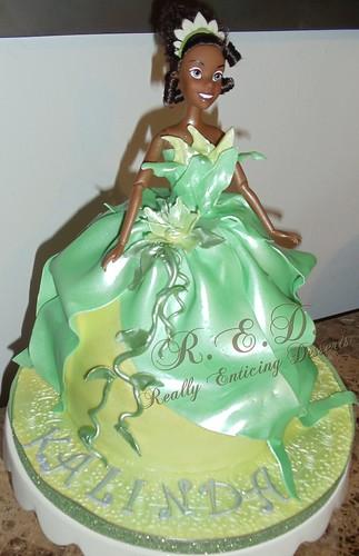 Brilliant Princess Tiana Dress Cake A Photo On Flickriver Funny Birthday Cards Online Elaedamsfinfo