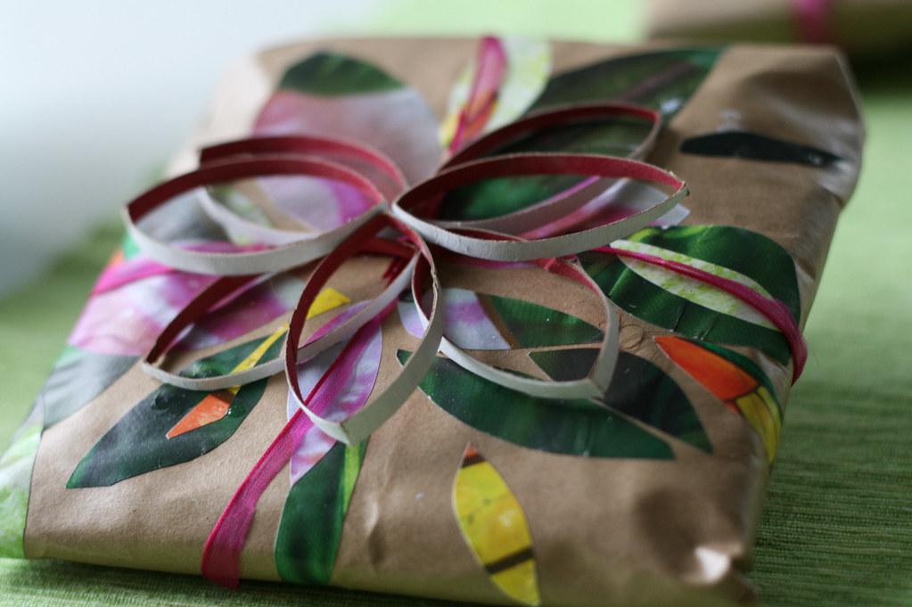 Handmade gift wrap by erika g., on Flickr