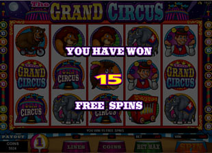 free The Grand Circus free spins