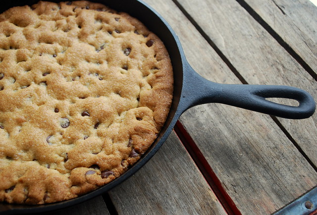 ... of Ordinary: Giant Chocolate Chip Cookie baked in a cast iron skillet