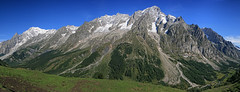 The Mont Blanc Massif (Oliver C Wright) Tags: mountains alps courmayeur montblanc