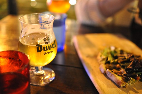 duvel green and yummy flatbread