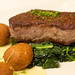 steak with fritters | MARKET by JEAN-GEORGES