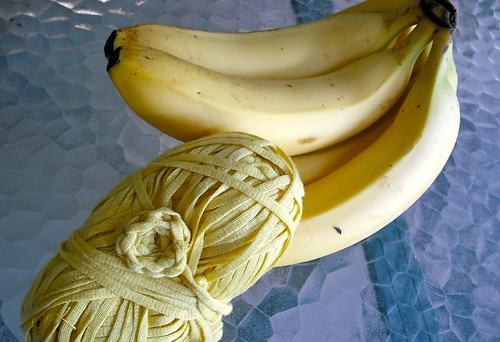 bananas with banana fiber yarn