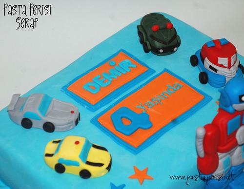 transformers pastası 4 yaş