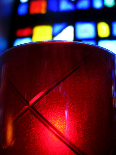 Candle and Stained Glass