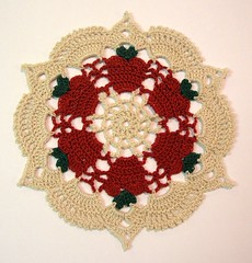 """Apple for the Teacher Doily"""