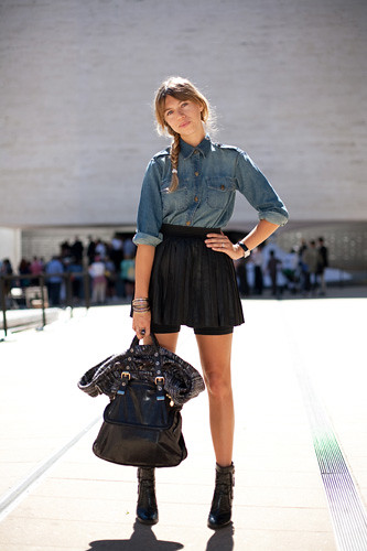 denim-shirt-street-style-new-york-fashion-week