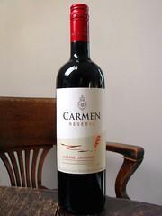 Carmen Reserva Cabernet Sauvignon (knightbefore_99) Tags: chile red table rouge bottle wine south dry vin carmen rosso vino reserva tinto cabernet sauvignon