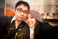 Us (kaoni701) Tags: sf sanfrancisco portrait love couple bokeh jonathan moma tagged bridget nikkor suki selfie 24mmf14 d700