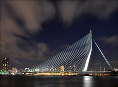 the bridge - impressive as always (leuntje) Tags: bridge netherlands rotterdam explore frontpage erasmusbrug theswan nieuwemaas unstudio benvanberkel wilhelminapier dezwaan
