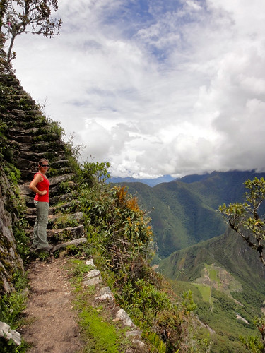 Wendy on Monta~na Machu Picchu