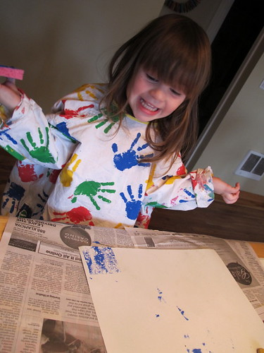 Sponge Painting Happiness
