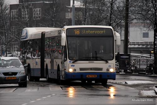 Transporte público de Amsterdam: Ônibus articulado em Amsterdam