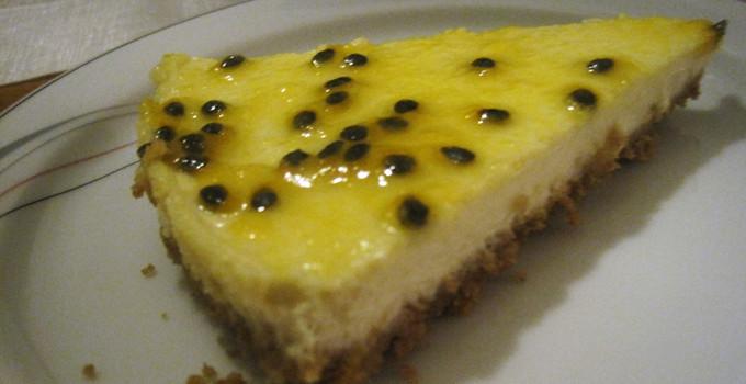 Cheesecake med passionsfrukt