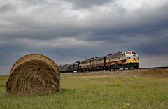Hay, that's an F unit! (jterry618) Tags: anamoose northdakota unitedstates us rcp royalcanadianpacific cprail fp9 funit emd