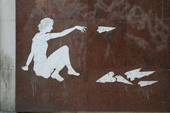 Making paper planes (Jrgo) Tags: streetartlisbon lisbonstreetart streetartportugal lisbon portugal outsiderart outsiderartlisbon lisboa outsiderartportugal graffitilisbon portugalgraffiti streetsoflisbon urbanart art streetart graffiti paperplane pasteup wheatpaste paste