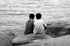 Friends for ever (kailhen) Tags: friends sea dawlish warren devon