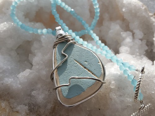 Hello my name is AnQuanette and I am the owner of aqejewelry.com I make handmade jewelry from Sea Glass, Sea Pottery, Ghana Beads, Crystals and more...