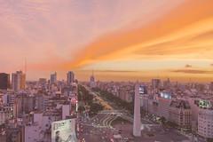 _Q9A5584-3 (gaujourfrancoise) Tags: argentina argentine buenosaires gaujour 9julyavenue avenuedu9juillet avenida9dejulio sunset coucherdesoleil pink rose orange