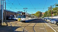 Tussenuur (Peter ( phonepics only) Eijkman) Tags: amsterdam city combino bn trapkar gvb depot depots tramdepots remise remises tram transport trams tramtracks rail rails strassenbahn streetcars nederland netherlands nederlandse noordholland holland