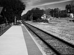"""""""I followed her to the station...... (this IS the Station) (Shein Die) Tags: robertjohnson train station blues blackandwhite bw rural mono railroad black theblues hazlehurst mississippi"""