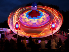 Goose Fair by Night 2016 (DaveKav) Tags: nottingham nottinghamshire goosefair fair ride fairground night longexposure urban motion colour colors colours dark