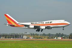 N745CK Kalitta Boeing 747-400 EHAM 13/9/16 (David K- IOM Pics) Tags: n745ck b744 boeing 747 747400 747400f cargo cks kalitta air eham ams amsterdam schiphol airport