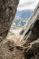 The Narrow Trail (thecobra2010) Tags: coquihalla hope yale zopkios britishcolumbia bc canada hike hiking trek trekking scramble scrambling fun adventure scenery scenic rocks boulder tight small clouds mountain needlepeak path view