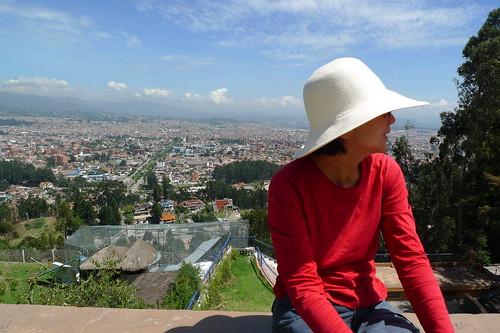 Sun-Ling's new Panama hat - Cuenca, Ecuador