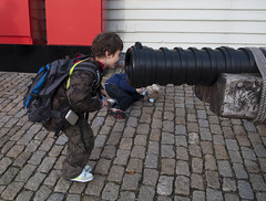 Dylan versus the cannon - Copyright R.Weal 2010
