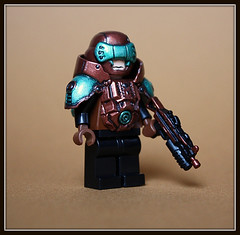 Cyborg (Geoshift) Tags: lego customminifig legocustomminifig amazingarmory unitedarmory