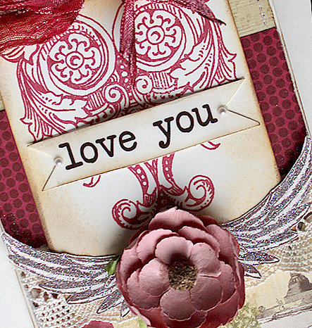 Love You Card detail