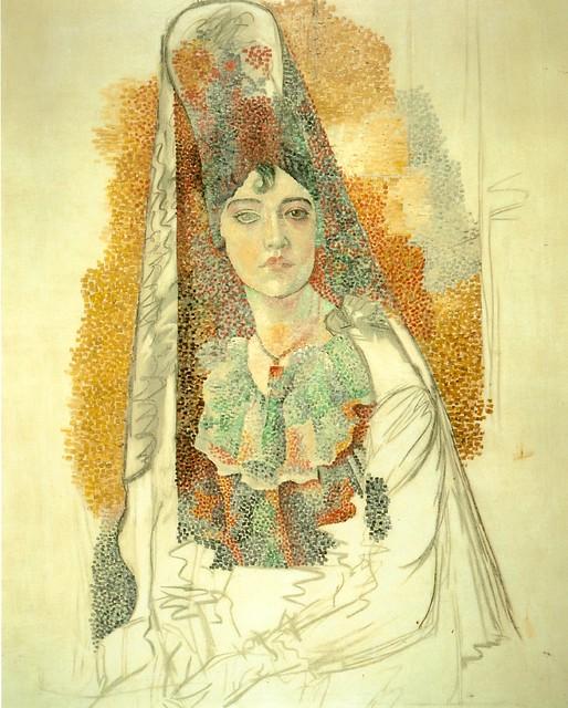 La mujer con mantilla - Picasso