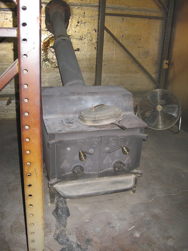 Woodstove in the Kiln