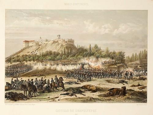 024-Castillo de Chapultepec- Album Pintoresco de la Republica Mexicana 1850