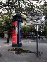 Colonne Morris: Pont de Sully: Quai Henri IV: Square Henri Galli: Paris: September 2010 v1 (Barmy Bee) Tags: square de september pont morris sully iv quai henri colonne 2011 galliparis