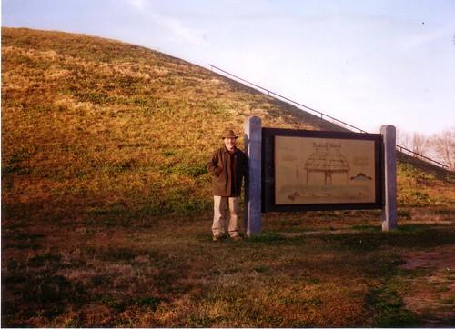 Dad at Emerald Mound